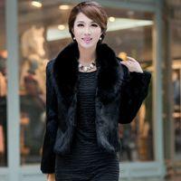 Cheap Fur coat women 2014 winter rex fur female fox fur mink overcoat short design slim