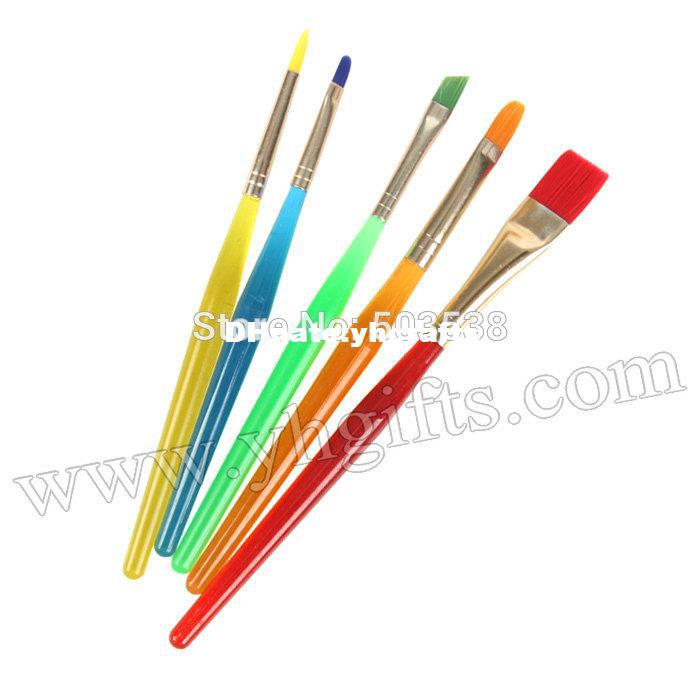 Online cheap mixed shape paint brushes artist pen for Wholesale craft paint brushes