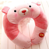Cheap Metoo rabbit small animal plush doll cartoon u neck pillow gift