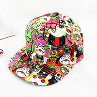 Wholesale 2014 Hot Sale Summer Fashionable Polyester Cartoon Monster Character Sun Hats for Pop Girls
