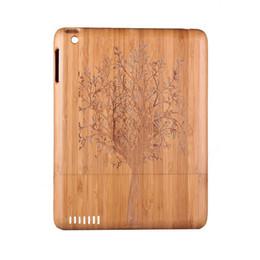 Mélanger le cas de la mode à vendre-Classique bambou bois naturel cas étui vintage avec motif de conception de mode pour Apple iPad 2/3/4 iPad 2 iPad 4