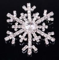 asian dress - Frozen snowflake brooch silver rhinestone crystal alloy brooches cartoon Christmas pins clips dress scarf tie pin women children jewelry