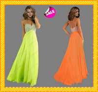 2014 Lime Green Chiffon Beaded Prom Pageant Dresses 2015 New...