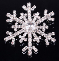 Wholesale Frozen snowflake brooch silver rhinestone crystal alloy brooches cartoon Christmas pins clips dress scarf tie pin women children jewelry new