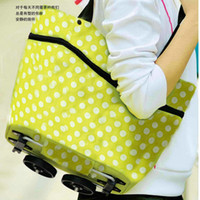 Cheap OP-2 in 1 oxford cloth shopping bag & tug bag foldable trolley case free shipping