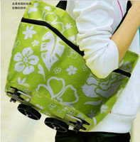 Cheap OP-Travel shopping bag with wheel & tug bag foldable trolley case free shipping