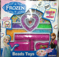 Wholesale FROZEN Snow Romance Magic Snow Adventure Snow Queen Beaded rope Jewelry Children DIY toys