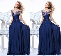 Cheap Best Selling Elegant Scalloped Cap Sleeve Long Length A Line Appliques Sashes Ruffles Pleats Chiffon See Through Evening Gowns Prom Dress