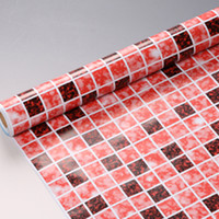Wholesale 10M Bathroom Toilet Mosaic Vinyl Self Adhesive Wallpaper Kitchen Waterproof Oil Sticker PVC Wall Paper