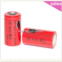 Wholesale AW IMR Battery mAh V WH High Drain Li Ion Rechargeable Battery Button Top Fit E Cigarette Mod LED Torch Digital Camera
