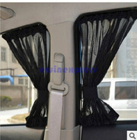 adjustable punch - 2X Hot sale high quality Black Adjustable Car Window Mesh Interlock Curtain UV Sunshade Visor car cover