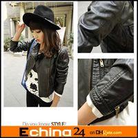 women winter leather jacket - Women Autumn Winter Long Sleeve Black Zippers Cardigan PU Leather Jacket Women s Outerwear Coat