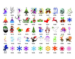Wholesale Airbrush tattoo Stencil book Christmas designs Template PH SB016 for glitter stencil kit supplies