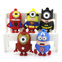 Wholesale 2014 Hero Cartoon Dispicable Me Minions Super Heroes USB Memory Stick gb gb gb gb flash drives