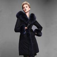 2014Winter New Design Large fur collar Woman Long Down coat ...