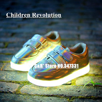 Wholesale C R Simulation Series USB Charging LED Children Shoes Kids Waterproof Luminous Lighted Children Sneakers Boots Size