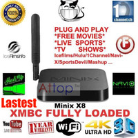 Wholesale MINIX NEO X8 Amlogic S802 Quad Core Android TV BOX G G Dual Band WIFI G G Bluetooth XBMC Android Original MINIX X8 pc