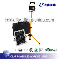 LED 10w solar panel - 10W COB LED flood Light CASE with Solar Panel and Tripod