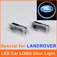 Wholesale Car Logo LED Door Light Emblem Replacement Projector Courtesy Welcome Range Rover Evoque Discovery Laser CREE Auto Ghost Shadow