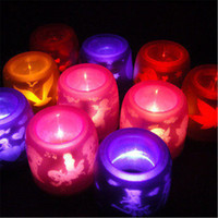 Wholesale Sound Control Light Candle Light Led Candle Night Light Voice Projection Lamp Electronic Candle Halloween Christmas Birthday Candle Light