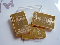 Wholesale 3pcs Third Reichbank Bullion Bar coins Hitler fine Gold German Eagle Cross gold Plated bar Gifts