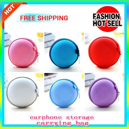 Wholesale Colorful Earphone Headphone Earbud Carrying Storage Bag Pouch Hard Zipper Case For USB Cable And Coin With Cheap Price