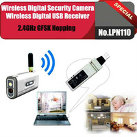 Wholesale No LPN110 GHz Wireless digital security camera wireless digital usb receiver use for baby monitor house or car security