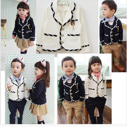 Wholesale New fashion England style boys and girls suit children s outerwear suit