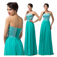 Stunning Beading Sequins Light Sea Green Evening Dresses Lon...