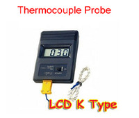 Wholesale TM C Digital LCD K Type Thermometer Meter Single Input Thermocouple Probe