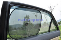 Wholesale 20pieces pairs Foldable Mesh Side Window Screen Suction cup Mesh Sun Shades for Car