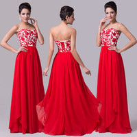 Super Design!Long Sheath Evening Dresses Red Chiffon Formal ...
