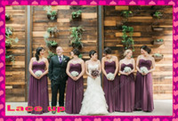 Eggplant Purple Plus Size Chiffon A- Line Bridesmaid Dresses ...