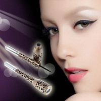 Cheap Leopard Shell Waterproof Liquid Eye Liner Eyeliner Pen Makeup Cosmetic Black