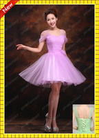Romantic Light Purple Tulle Beach Bridesmaid Dresses Cheap U...