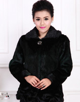 Cheap 2014 Autumn Winter colete pele falso European hign quality faux Fur coat middle age woman clothing gentle mink coat