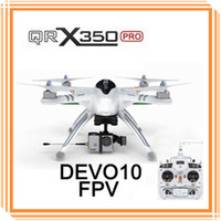Wholesale Upgrade WALKERA QR X350 QRX350 Pro GPS Drone Helicopter UFO DEVO F7 Transmitter RC Helicopter CH Brushless Hexlicopter For Gopro DHL