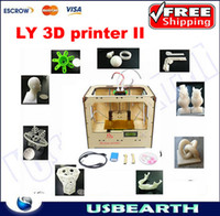 Cheap Free shipping !!! LY Dual Extruders open source MakerBot Replicator 3d printer machine ,with SD card control, 3d printer china