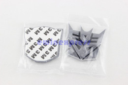 Wholesale Car Auto Robot Aluminum Decepticon Emblem Sticker Center hub New Good Quality Freeship Hot sale