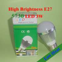 Wholesale Hight Brightness thermolysis led W Globe lamp Led Light E27 V V Led Bulbs