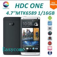 al por mayor hdc m7-HDC Uno M7 Quad Core MTK6589 2G de ram+16G rom de 4.7 pulgadas de pantalla HD 1280*720 13.0 MP+2.0 MP Cámara del smartphone