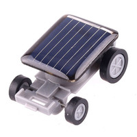 Wholesale New Black Lovely Solar Toy Car Educational Gadget Children Gift Mini Solar Toy Car For Kids Power Amazing H1759