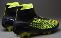 Wholesale Cheap Men Soccer Shoes Magista Obra FG Cheap Football Shoes Men Soccer Cleats TPU Football Boots Outdoors Ball Sports Shoes Hi Cut Athletics