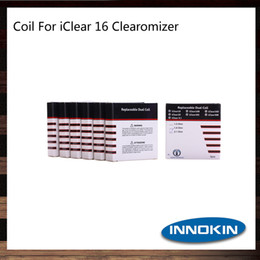 Innokin iClear 16 Clearomizer Replacement Dual Coil Heads 1.5ohm 1.8ohm 2.1ohm iClear 16 Coils 100% Original