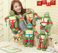 Wholesale Stuffed Green Turtle - 2016 new 28cm cartoon Teenage Mutant Ninja Turtles plush toys stuffed dolls Children's christmas gift