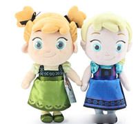 Wholesale 2014 Cute Cartoon Frozen Anna Elsa Plush Dolls Kids Childs Plush Toys Stuffed Animals Toy Children s Gift Doll Baby s Accessories J1338