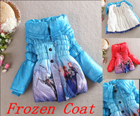 Wholesale EMS New Arrival Winter Children s Down Coat Thickening Jirong Girl Long Cotton Padded Clothes Kids Down Jackets Outwear Fit Age