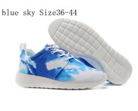 Wholesale Cheap Men Women Sports Shoes Mens Running Shoes Womens Roshe Run Shoes Woman Sports Shoes Running Shoes Palm Tree Blue Sky Sunset size
