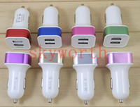 Wholesale Dual port usb Auto Car charger A A Power Adapter for iphone s c for ipad for samsung Galaxy S3 S4 S5 Note