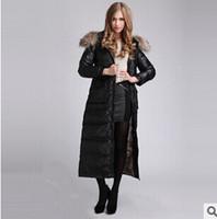 2014 Winter New Large fur collar BlackWoman Long Down coat F...